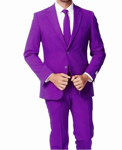 Suit Purple Mens Suits Jacket Button Bright