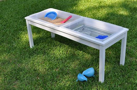 how to sand a table how to build your own water sand sensory table for play