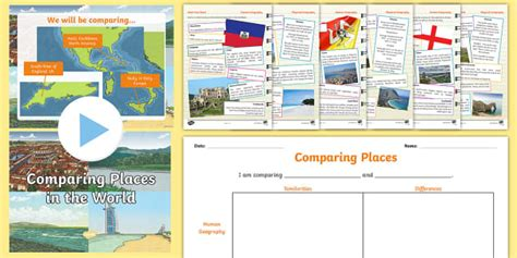 ks geography comparing places lesson teaching pack compare