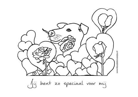 Kleurplaat Elsa Hondje by Jij Bent Zo Speciaal Voor Mij Kleurplaat Liefde