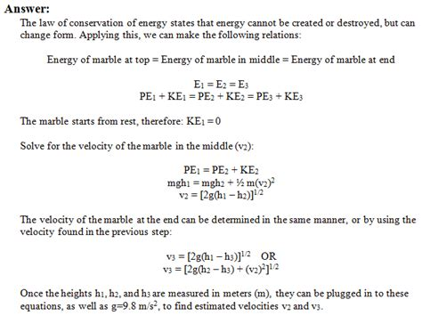 conservation of energy worksheet answer key lesupercoin