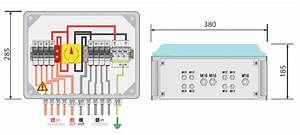 Pv Combiner Box  4way In 1way Out  With Surge Protection