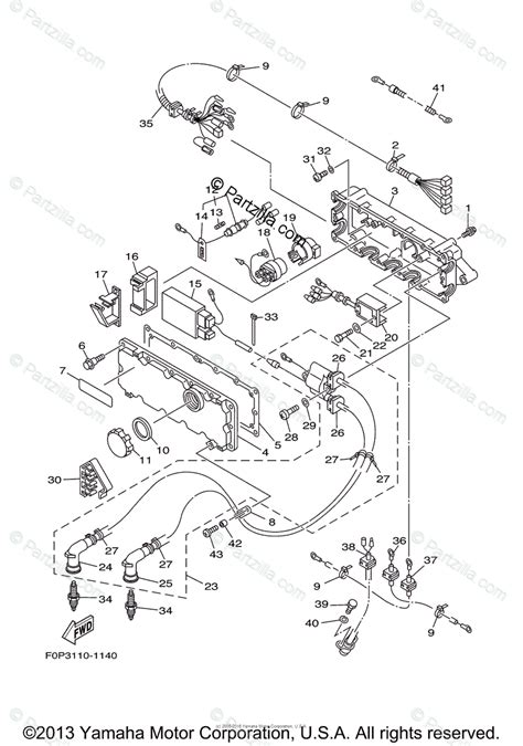 yamaha waverunner  oem parts diagram  electrical