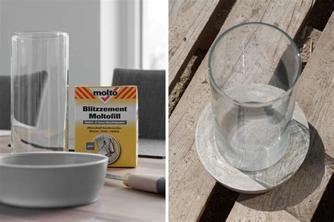 windlichter aus beton selber machen diy windlicht aus beton und glas mxliving