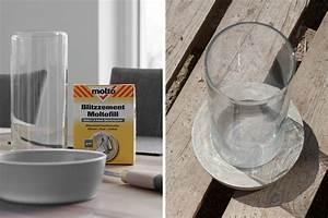 Hühner Aus Beton Selber Machen : diy windlicht aus beton und glas mxliving ~ Whattoseeinmadrid.com Haus und Dekorationen