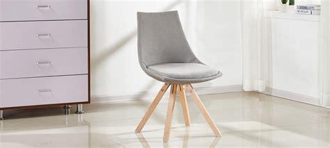 chaise de volupté chaises scandinave en tissu gris à prix usine