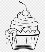 Coloring Muffin Cupcake Icing Frosting Amp sketch template