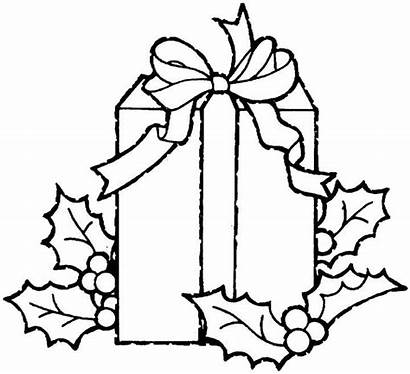 Coloring Presents Gift Gifts Ausmalbilder Clipart Template