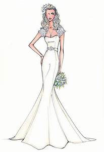 mermaid style wedding dresses drawing - Google Search ...