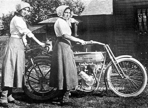 Harley Davidson Motorcycle Women Ride Antique Vintage1912