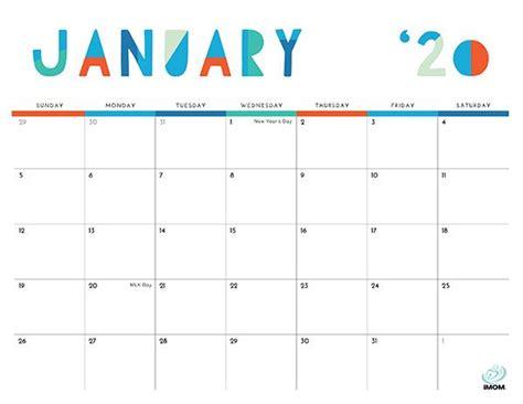 colorful printable calendar  moms kids calendar
