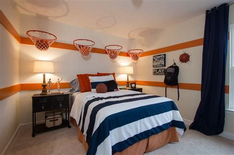 Sports Corner In The Boys Room by 1000 Ideas About Basketball Themed Rooms On
