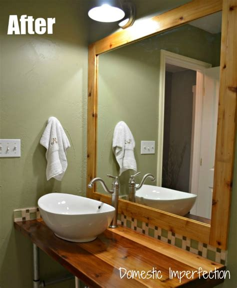 diy rustic bathroom vanity rustic industrial bathroom vanity domestic imperfection