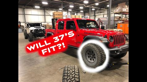 jeep gladiator  tire test fit youtube