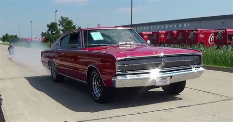 Test Drive And Burnout 1966 Dodge Charger 426 Hemi Muscle