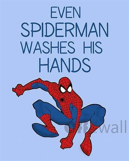 Bathroom Spiderman