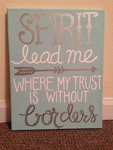 Spirit lead me ... Pretty Canvas Quotes
