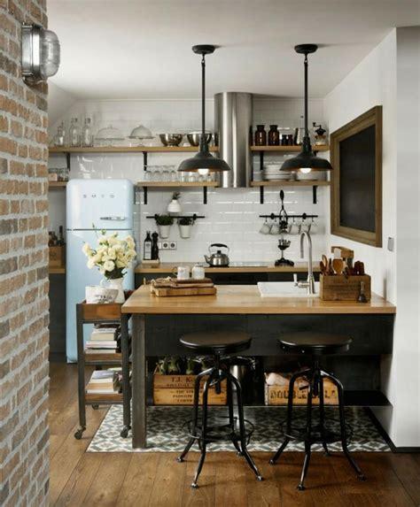 cuisine loft industriel déco loft industriel un studio en brique et bois à