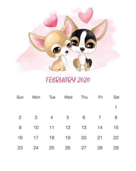 printable  cute dog calendar  cottage market