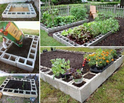 cinder block raised garden bed how to