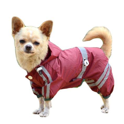 dog waterproof raincoat outdoor hooded rain coat  teddy