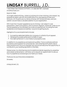 best attorney cover letter examples livecareer With cover letter examples for lawyers