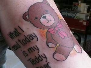 Teddy Bear Tattoos - 25 Sweet Collections | Design Press