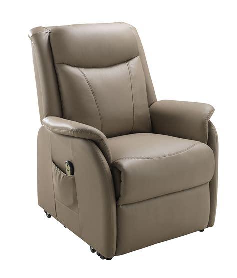 fauteuil en cuir avec releveur electrique de relaxation