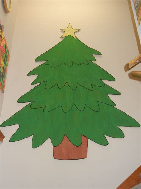 how to make a big christmas tree hallway decor when one teaches two learn