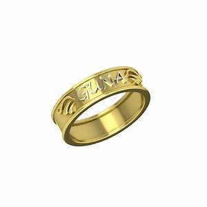 Funky name rings for Funky wedding rings