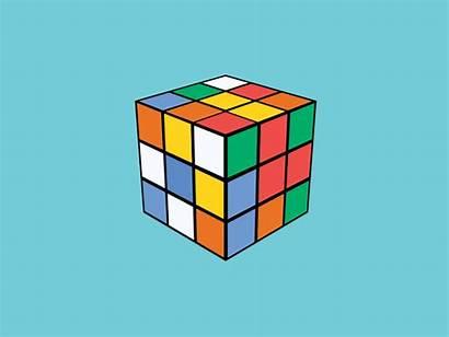 Cube Rubik Rubiks Rubix Gifs Dribbble Illusion