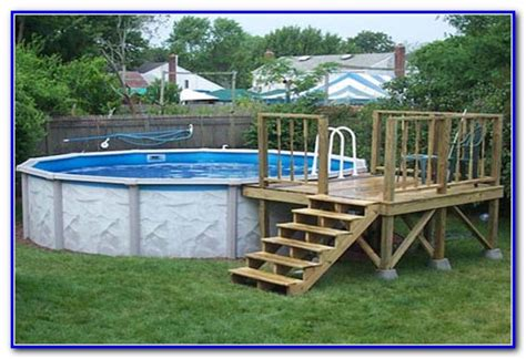 ground pool deck plans  decks home