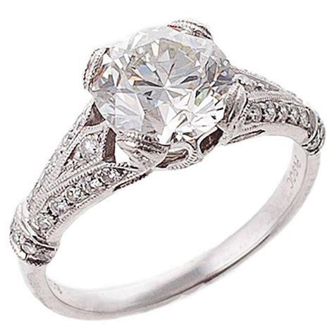 diamond platinum engagement ring for sale at 1stdibs