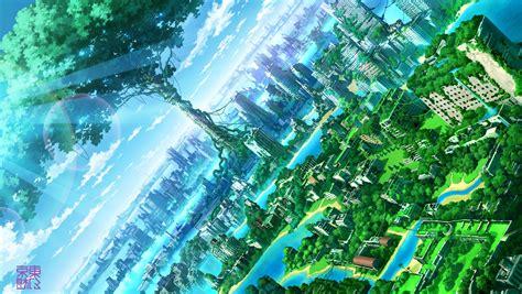 Anime Artwork Wallpaper - anime artwork city nature wallpapers hd