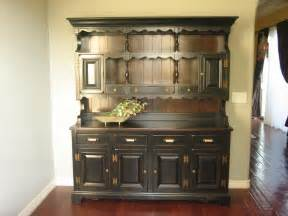 hutch kitchen furniture european paint finishes rustic black farmhouse hutch