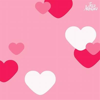 Background Valentine Valentines Heart Gifs Confetti Romance