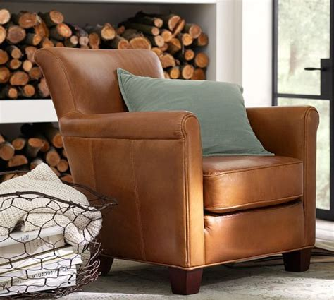 Living Room Chairs Pottery Barn by Irving Leather Armchair Pottery Barn Living Room Chair