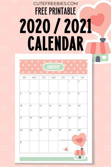 printable   calendar super cute
