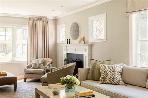 Taupe Interior Design : Transitional