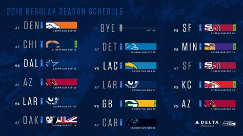 seattle seahawks  schedule announced includes
