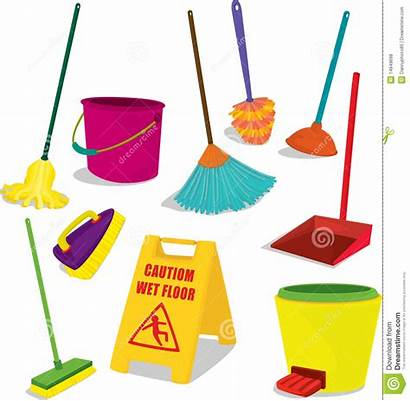 Cleaning Clipart Items Clean Household Materials Material