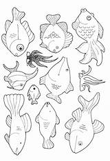 Fish Coloring Pages Animated sketch template