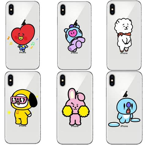 bt characters phone case iphone bts merch