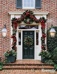colonial front door christmas decorations ideas