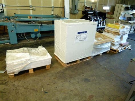 Lot #4: All Paper in shop, 1 Skid still wrapped, 3 partial ...
