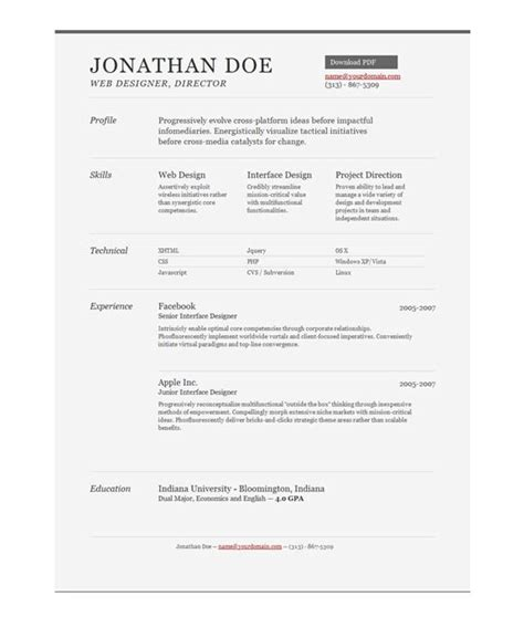 Top Choice Resumes by 25 Best Ideas About Resume Template On