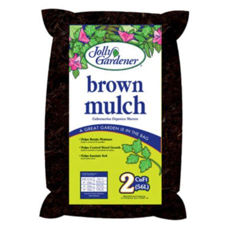 Jolly Gardener by Jolly Gardener 52058025 Brown Mulch 2 Cu Ft Walmart