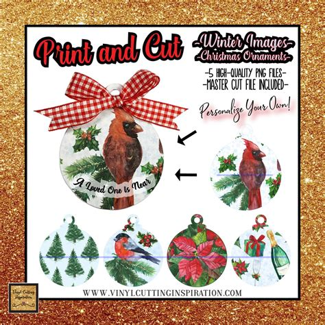These files can be imported to any number of paper crafting and vinyl cutting programs. Winter SVG Christmas Ornaments Print and Cut Svg Christmas ...