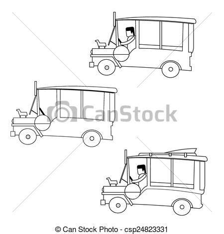 jeep philippines drawing vectors of philippines jeep philippine jeepney outline