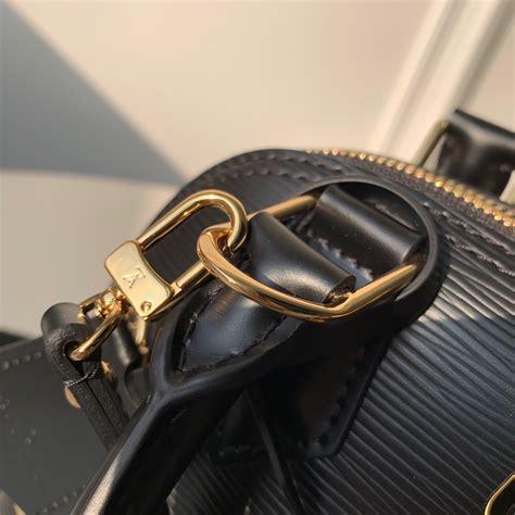 louis vuitton love lock alma bb top handle  epi leather  black  kd